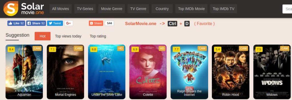 sites like 123Movies - solar movies