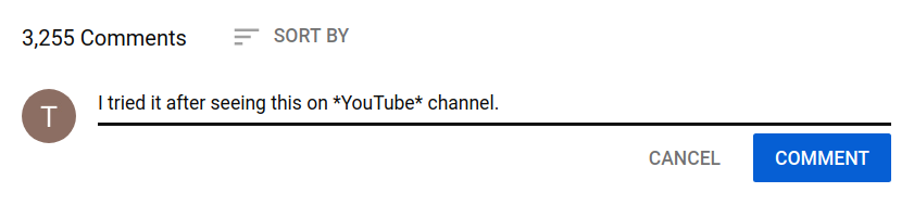 youtube comment formatting - bold
