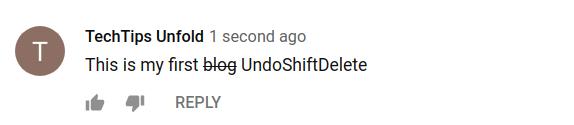 youtube comment formatting - strike through
