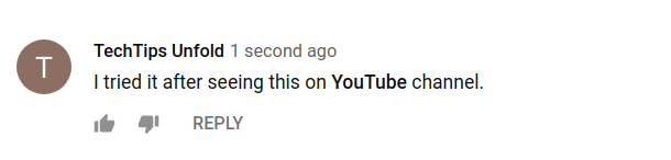 youtube comment formatting