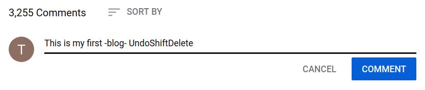 youtube text formatting - strike through