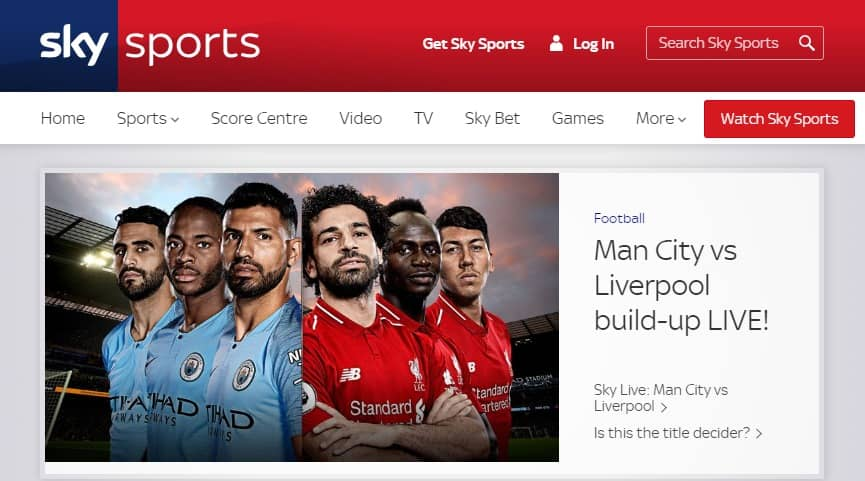 sky sports - free sports streaming site